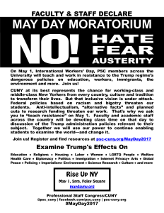 May Day 2017 Flyer