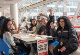 Grade-in for #7KorStrike at Hostos