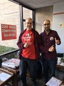 #7KorStrike supporters at Lehman grade-in